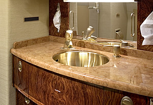 Marble Aircraft Counter Top